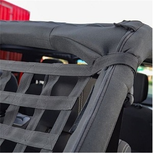Image 5 - Car Auto Hammocks Bed Cargo Net Roof Rack Luggage Cargo Net For Jeep Wrangler JK 07 18