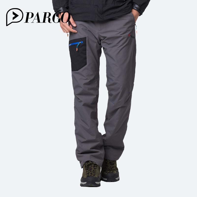 PARGO Outdoor Trousers Mens Winter Thick softshell Fleece Waterproof Outdoors Pants Trekking Hiking Climbing Pants For Men m810 koraman men thick winter warm fleece softshell pants fishing camping hiking climbing skiing trousers waterproof windproof 229