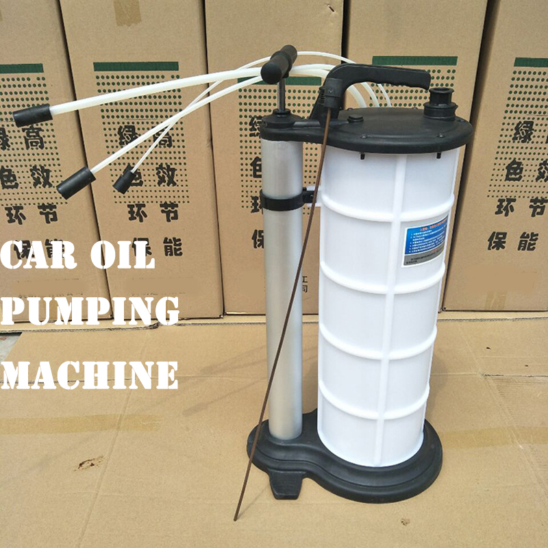 9L Volume Car Oil Filter Pumping Machine Manual Oil Pumping Machine Dirty Oil Collection Bucket