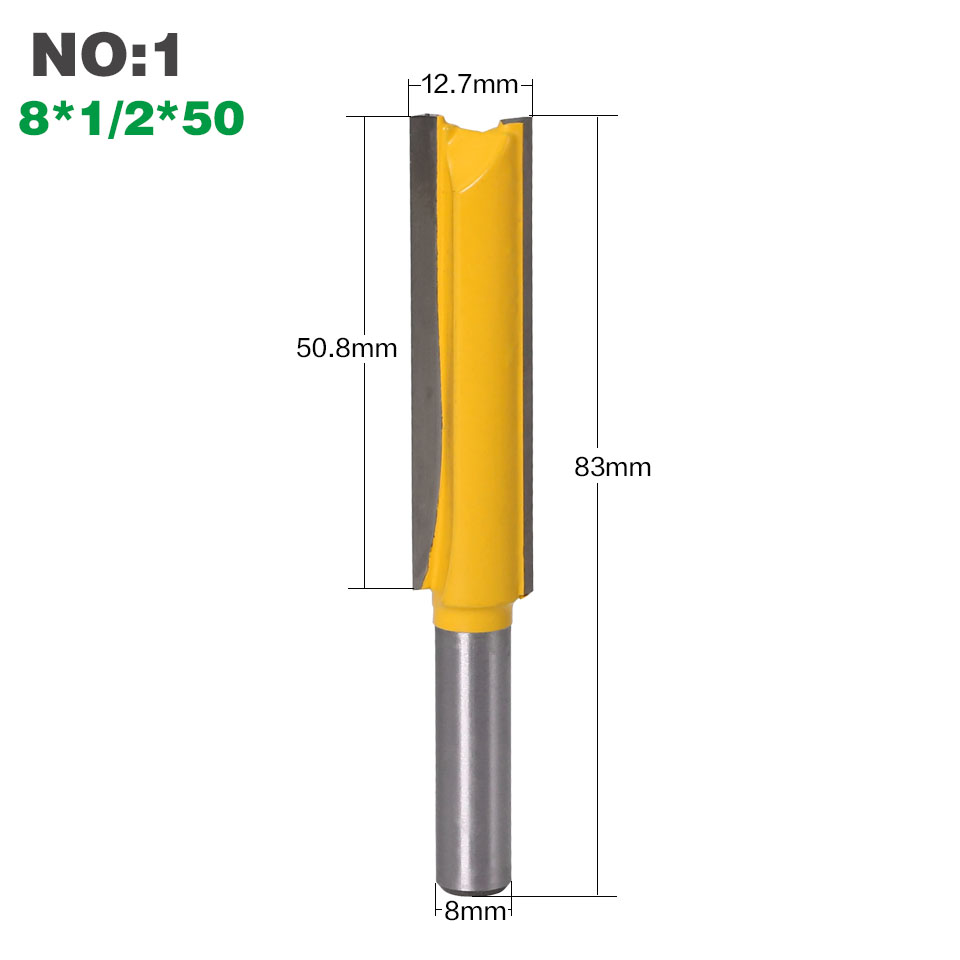 "Image 3 - 1 pc Straight/Dado Router Bit 1/2"" Dia. X 3"" Length   8"" Shank Woodworking cutter Wood Cutting Tool-in Milling Cutter from Tools"