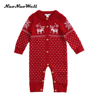 NuoNuoWell autumn and winter sweater cloth newborn baby conjoined clothes baby climbing clothes Small children rompers jumpsuit