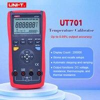 UNI T Temperature Calibrator UT701 Thermocouple Calibrator Type J/K/T/E/R/S/B/N/Wre RTDs C mV Resistance
