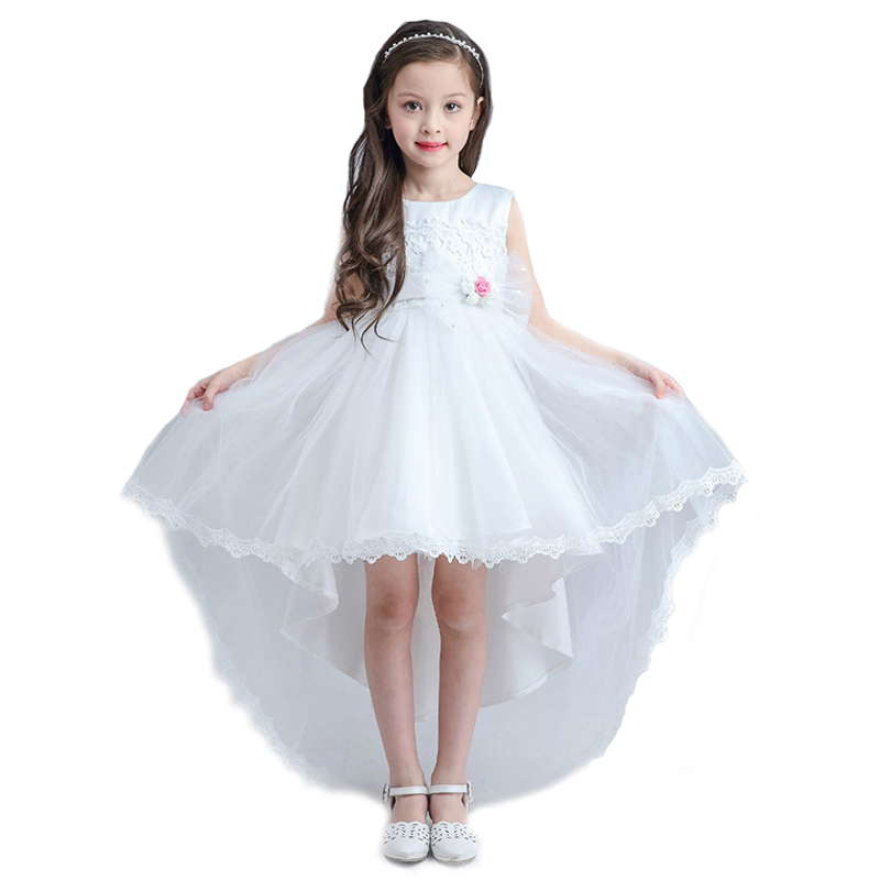 ФОТО 2016 summer latest former child dress princess dress  trailing long after the wedding flower girl dress girls' dresses