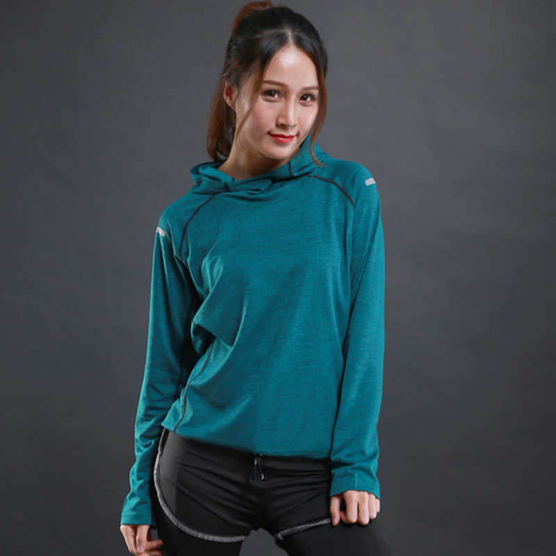 Zipper Yoga Shirts , Women Elastic Long Sleeve Sport Tops, Fitness Running Shirts Tops Breathable Tracksuit Hood Sports Clothing