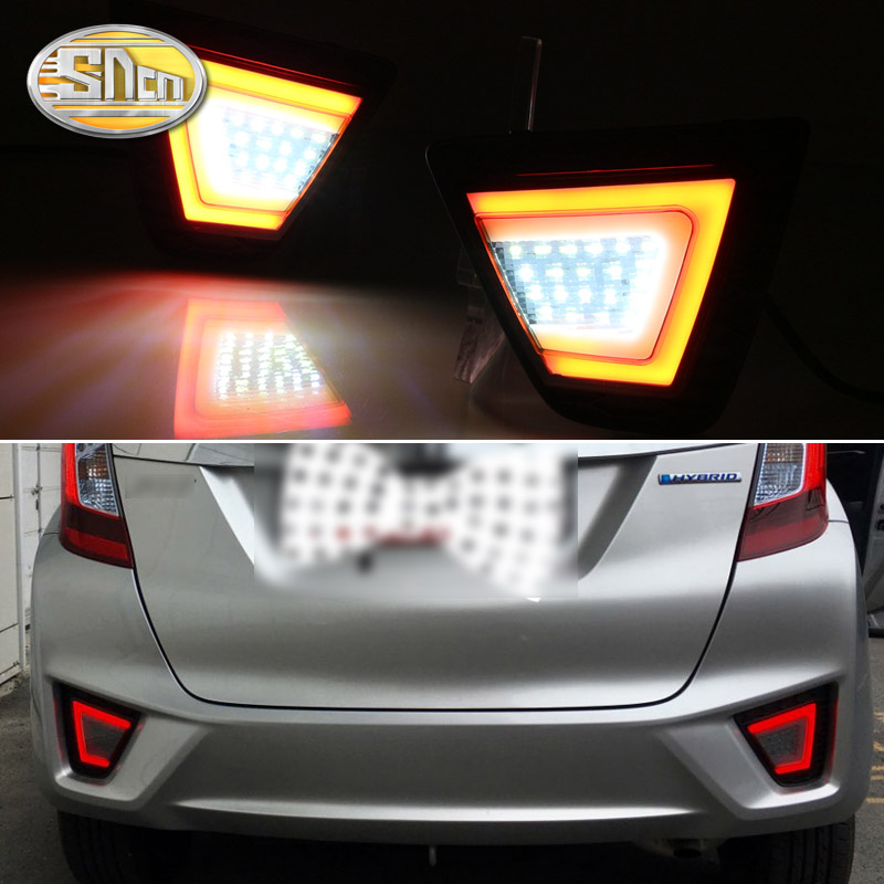 For Honda Jazz Fit 2014 2015 2016 2017 Multi-functions LED Rear Bumper Light Fog Lamp Brake Light Turn Signal Reverse Light