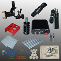 Complete Tattoo kits tattoo guns machine black tattoo machine power supply disposable needle free shipping 1100635-1kitA