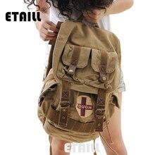 Женский Повседневный Винтажный Мужской холщовый рюкзак, женские школьные сумки, мужские роскошные сумки от известного бренда, рюкзак для ноутбука, военный рюкзак для путешествий