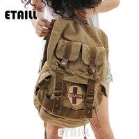 2016 Ladies Casual Vintage Male Canvas Backpack Women School Bags Men Luxury Famous Brand Laptop Sport