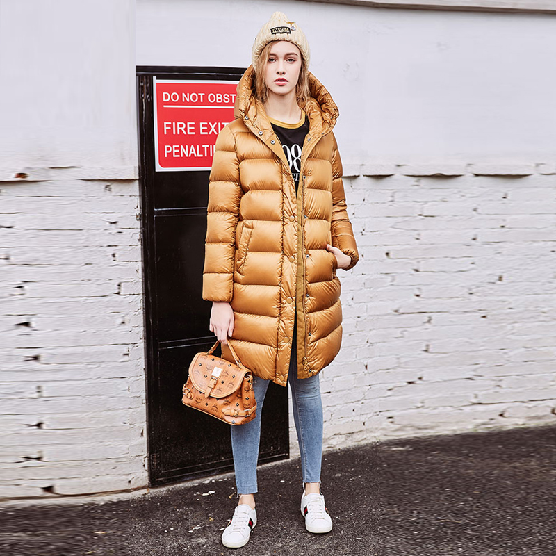 Coupe À D'hiver As 2018 Show Canard De Femmes Outwears Épais Duvet Ynzzu Chaud Long style Bas Veste Le O628 Mi Solide Nouveau Manteaux Picture Vers Capuchon vent Casual 1wx4HHqd
