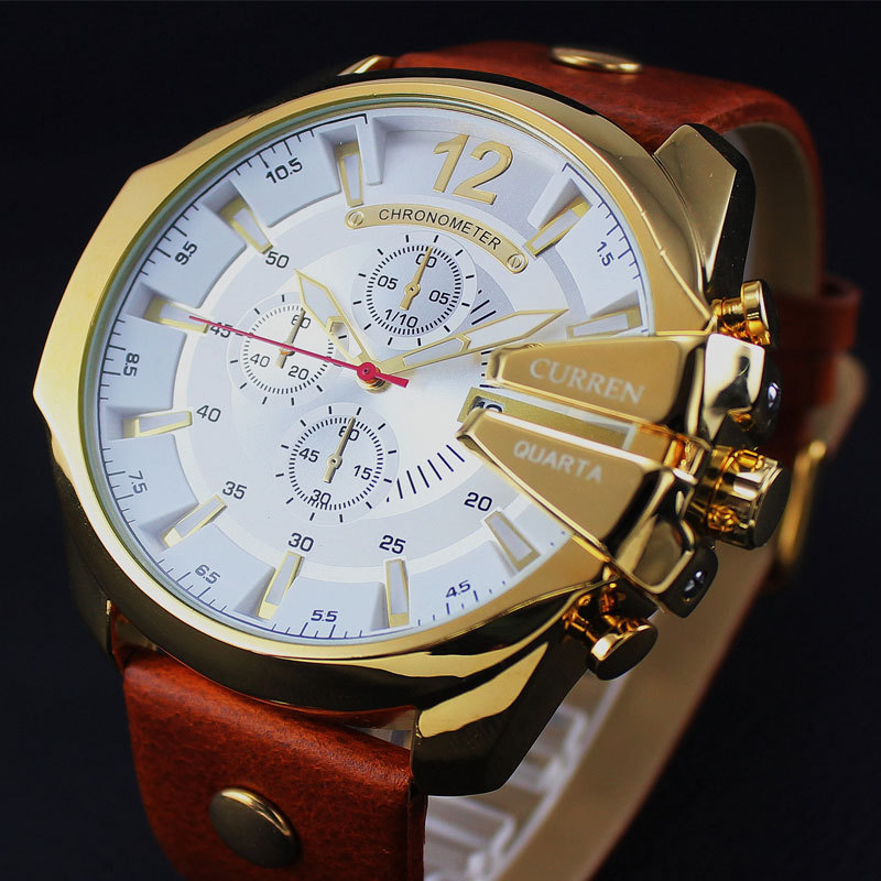 2018 Men Fashion Quartz Watches Luxury Brand CURREN Leather Watch Men Retro Casual Sports Male Clock Relogio Masculion For Gift упаковочная коробка cd dvd vcd cd dvd cd size12 5 12 5 f0098