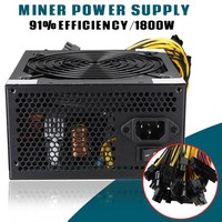 MAX 1800W Power Supply 91 For 6GPU Eth LTC Rig Ethereum Coin Mining Miner Dedicated High
