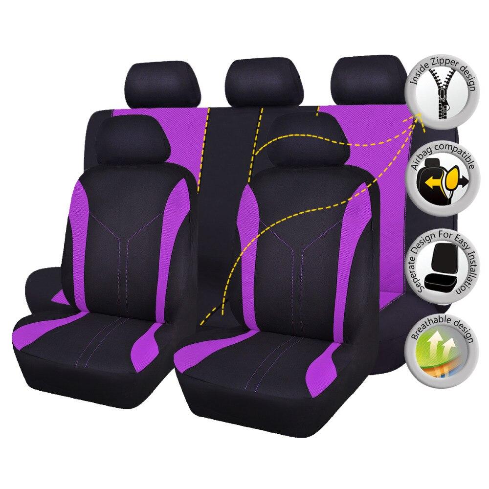 FlyingBnanner housses de siège de voiture en tissu maille universel pour la plupart des véhicules sièges accessoires intérieurs housse de siège de voiture protecteur 4 couleurs - 4