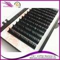 Venta Caliente del envío libre extensión de la pestaña de seda hecho a mano todo el tamaño disponible de 0.05mm 0.07mm 0.25mm