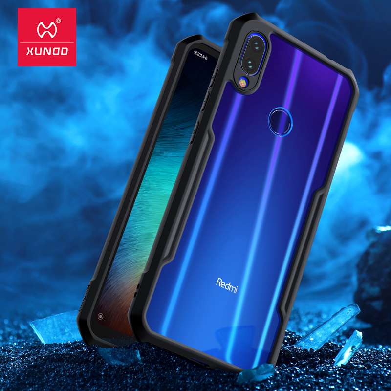 For Xiaomi Redmi Note 7 7 cc9 Pro Transparent Acrylic+TPU XUNDD Phone case for xiaomi K20 Pro Mi 9T Pro Ring Protective cover-in Fitted Cases from Cellphones & Telecommunications