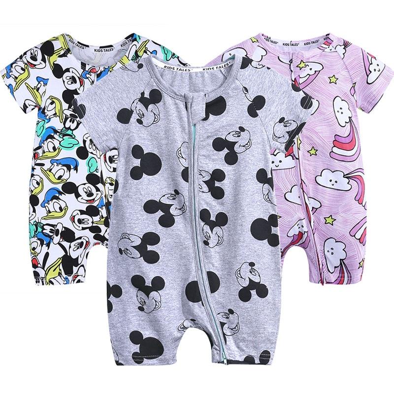 3c3f9d986af18 Newborn Cute Floral Cotton Baby Girl Rompers Infant zipper Romper ...