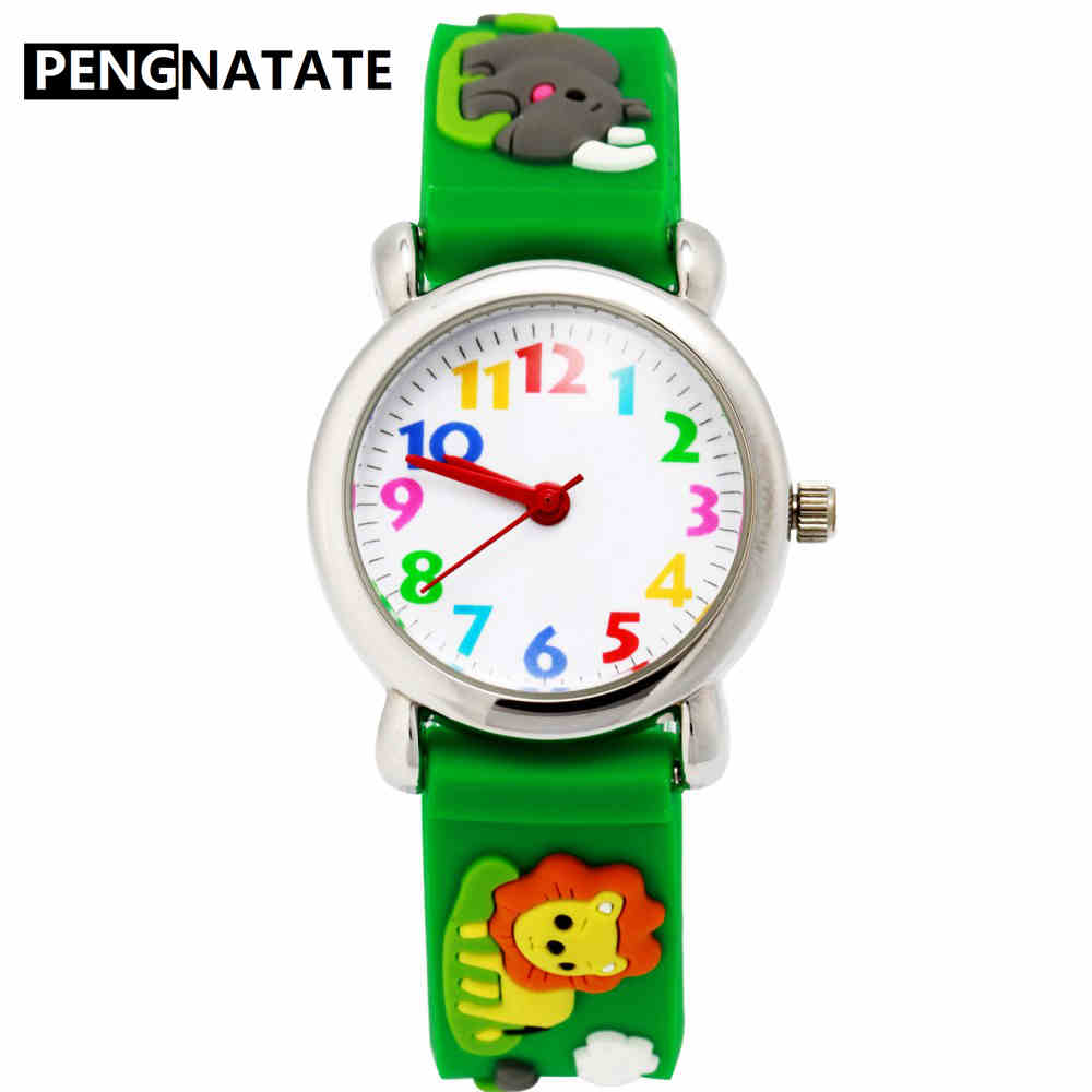 PENGNATATE Children Watches Fashion 3D Animals Cartoon Watch For Boys Girls Silicone Bracelet Wristwatch Students Kids Gifts woman fashion willis for mini water resistant watch child students cartoon lip prints watch women leisure wristwatch pengnatate
