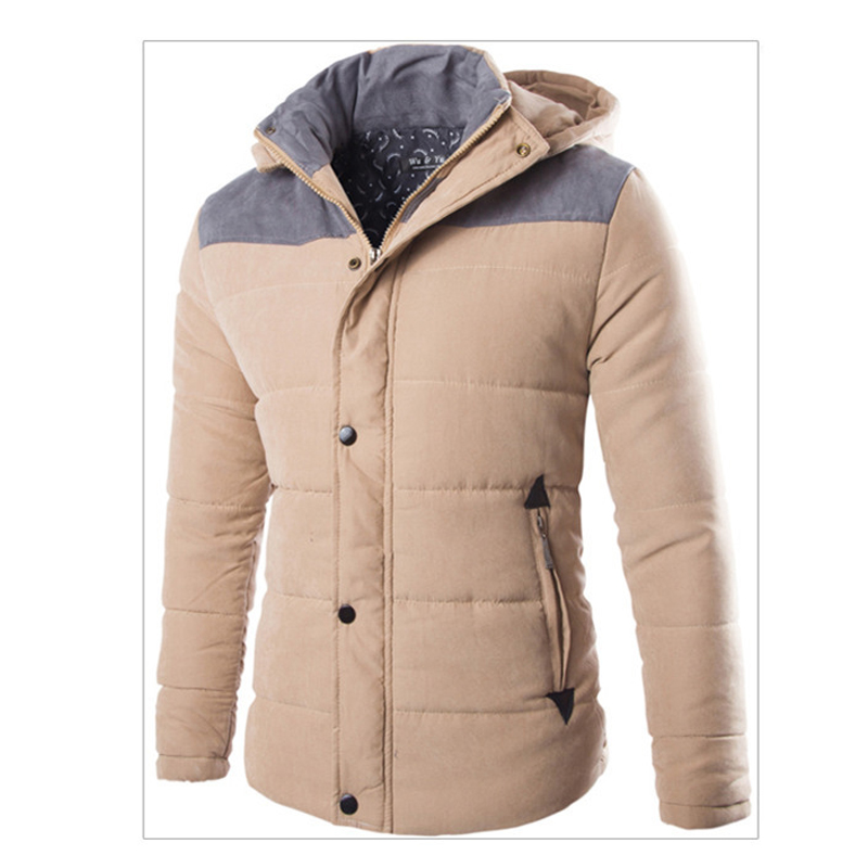 winter leisure men hooded thickening cotton padding jacket and coats parka homme overcoat 3XL ACL13