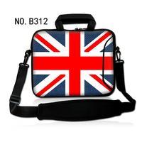 Classic Union Jack Shoulder Case Cover Handle Bag Sleeve Pouch For 17.3
