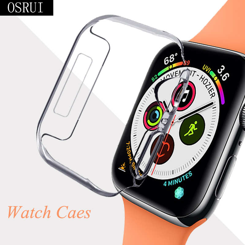 42mm 38mm Strap For Apple Watch 4 band case correa aple 44mm 40mm Transparent silicone cover iwatch case 3 2 watch accessories image