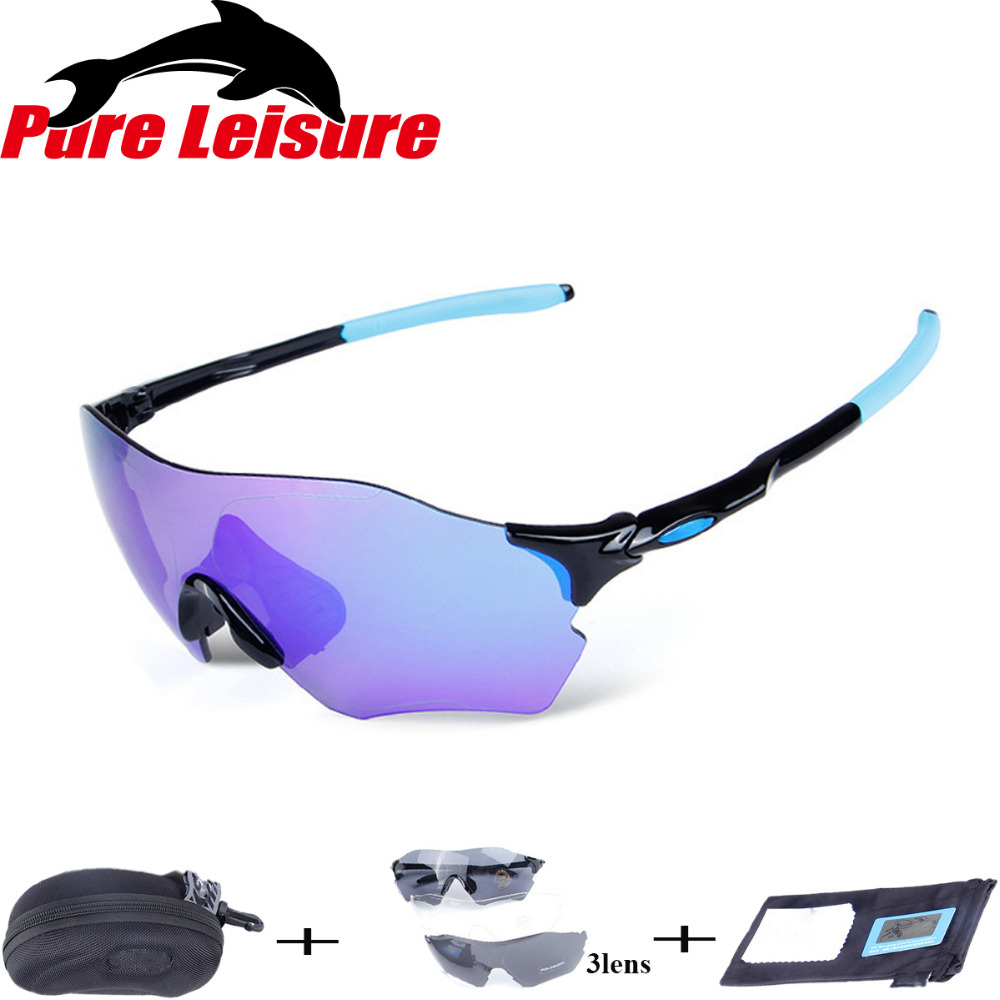 PureLeisure 1 Set 3 Lens Sunglasses Fishing Mens Polarized Glasses Sport Fishing Nachtbrillen Dames Clip Glasses Fish