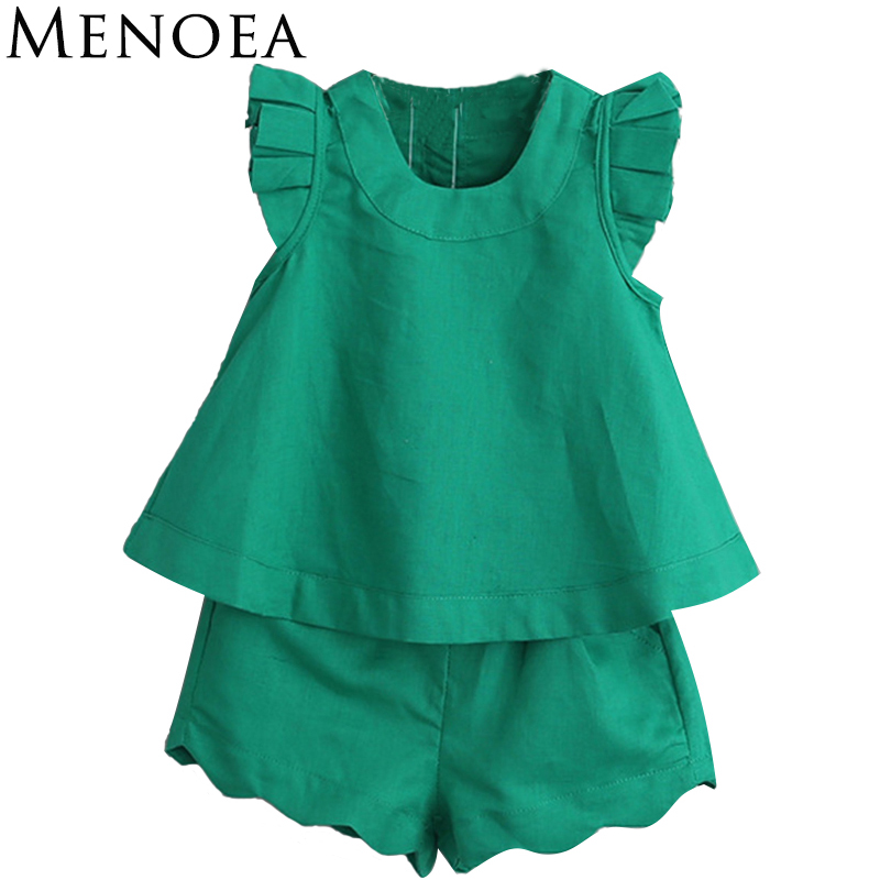 Kids Girls Clothing Sets Summer New 2018 Brand Girls Clothes short Sleeve T-Shirt+Pant Dress 2Pcs Children Clothes Fashion Style