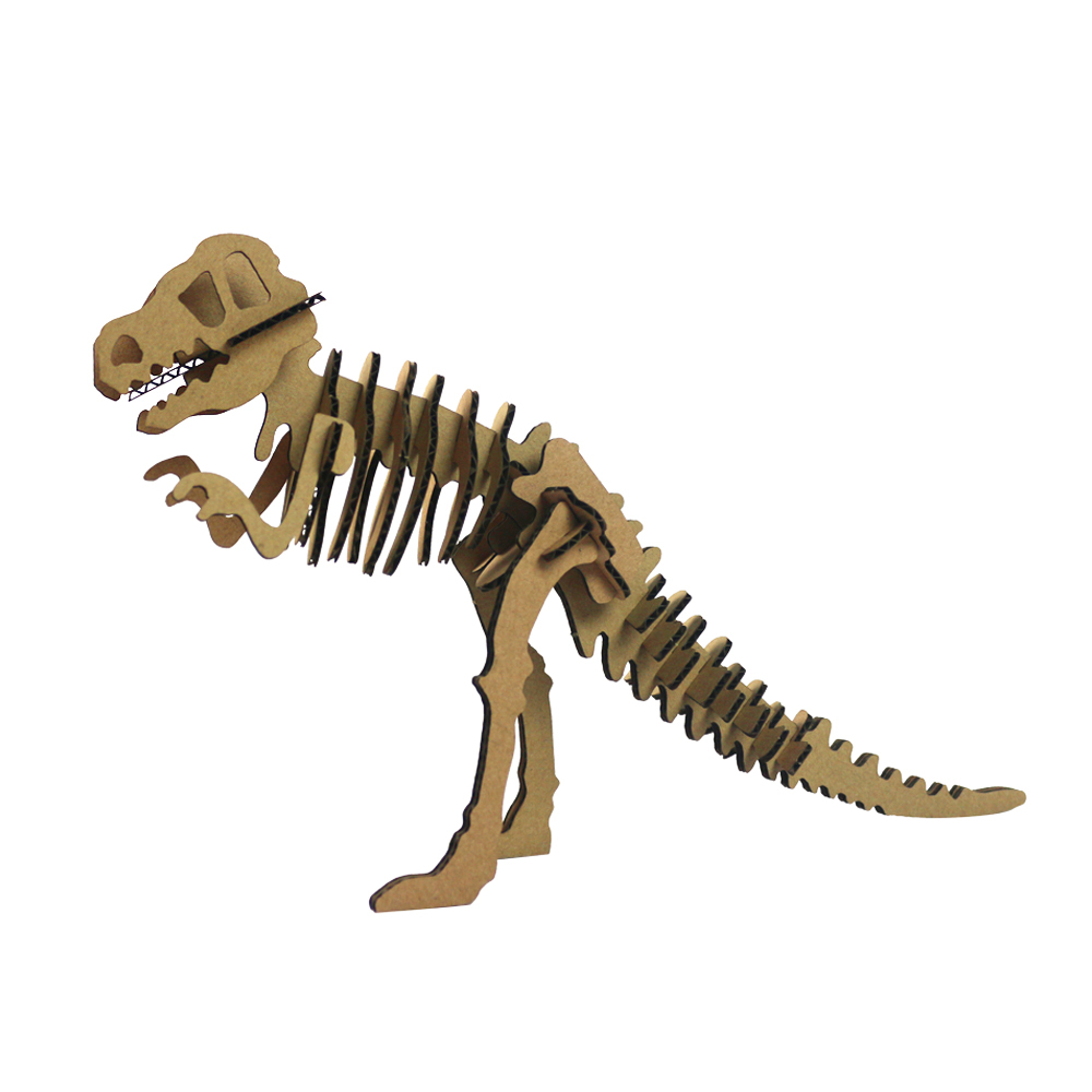 Halloween 3d Puzzle Dinosaur Skeleton DIY Skull Tyrannosaurus Rex Cool Kid Toy T-Rex Craft Model Papercraft Childrens Day Gift