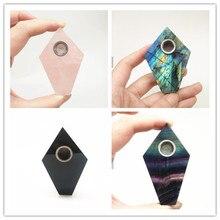Высококачественная продукция натуральный кварц волшебная палочка ТОЧКА ромбовидный Кристалл курительная трубка здоровье для курения Исцеление