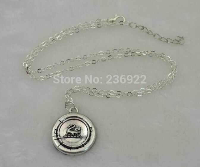 ZRM 20 шт/партия оптовая продажа модные ювелирные изделия Новый Белоснежка один раз на время Эмма Лебедь ожерелье талисман старое античное серебро