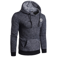 2017 Hoodies Men Sudaderas Hombre Mens Brand Dark Gray Pullover Hoodie Sweatshirt Suit Slim Fit Men