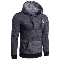 2017 Hoodies Men Sudaderas Hombre Mens Brand Dark Gray Pullover Hoodie Sweatshirt Suit Slim Fit Men