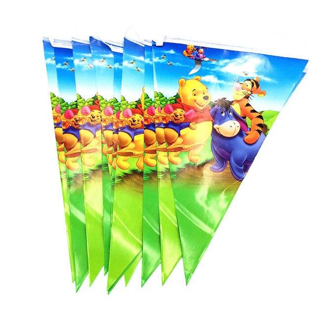 1pcs Winnie Pooh Banner Kids Birthday Party Supplies Birthday Winnie