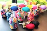 15ミリリットル10/30ピース空ポリマー粘土ガラス香水瓶、ポータブルエレガントな香り収納容器、香水スプレーボトルエアバッグポンプ