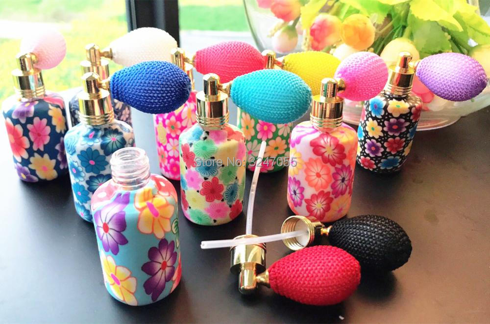 15ML 10/30pcs Empty Polymer Clay Glass Perfume Bottle,Portable Elegant Scent Storage Container, Perfume Spray Bottle Airbag Pump 10ml 15ml 30ml 50ml 100ml empty glass perfume spray bottle diy elegant black glass lotion pump bottle empty emulsion container