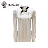 Dabuwawa Two Colors Autumn Elegant Long Sleelve Women Blouses Solid Blusas Casual Loose Tops