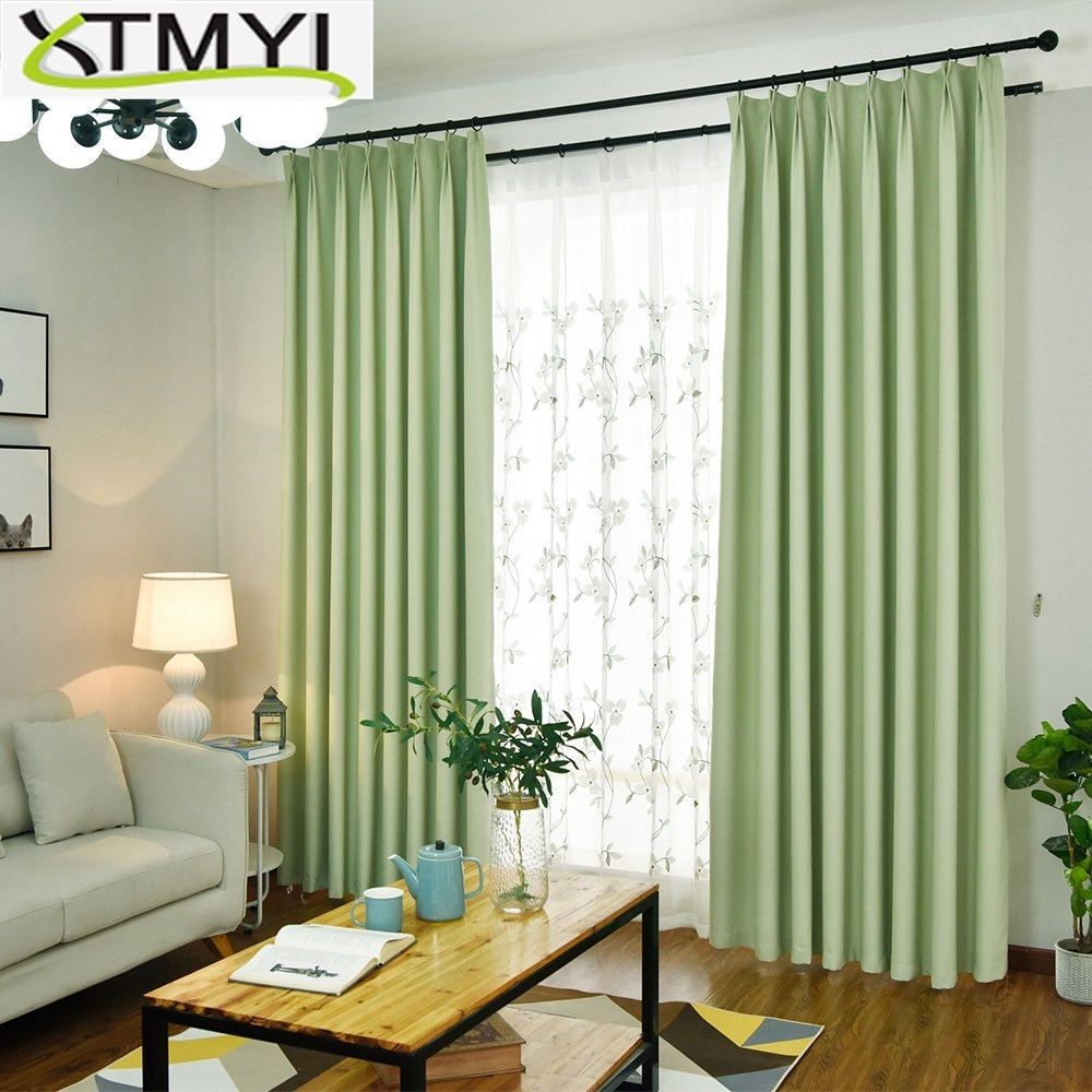 Modern Blackout Curtains For Living Room Pink Green Blue