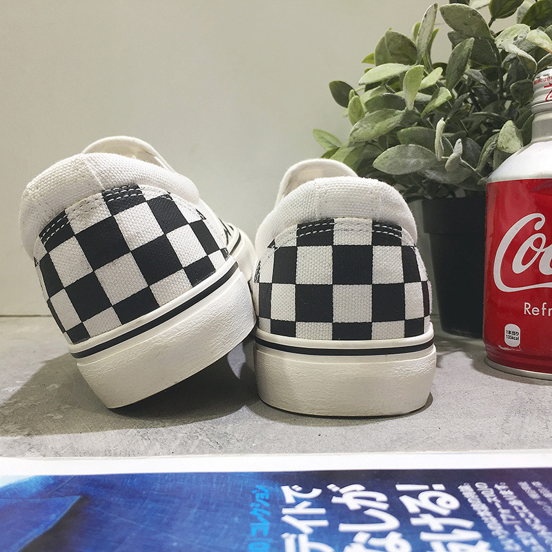 Classic Fashion canvas shoes Black White Plaid Men Loafers Casual Men - Men's Shoes - Photo 3