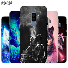 Starry animal wolf Painted Pattern TPU Back Case For Samsung Galaxy A50 A30 A10 S10 lite S9 S8 Plus M10 M20 Cover