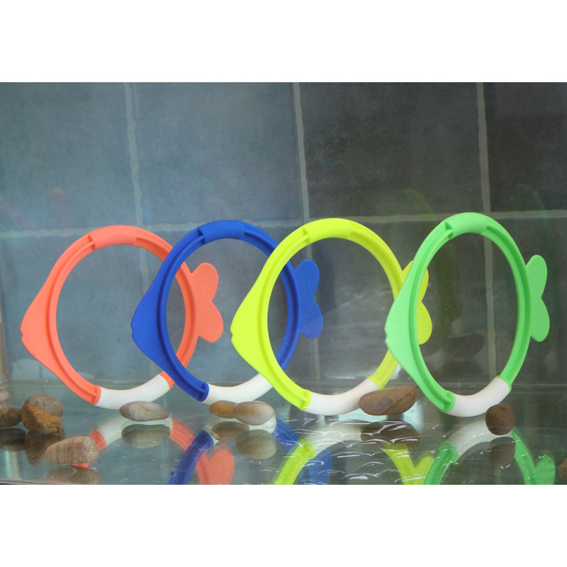 swimming pool kids child children boy dive toy water dive ring grab toy fish shape 4 in 1 set summer aqua game outdoor B41002