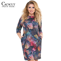 5XL 6XL Plus Size Summer Dress Women Clothing Female Print Office Dresses Big Sizes Pocket Dress