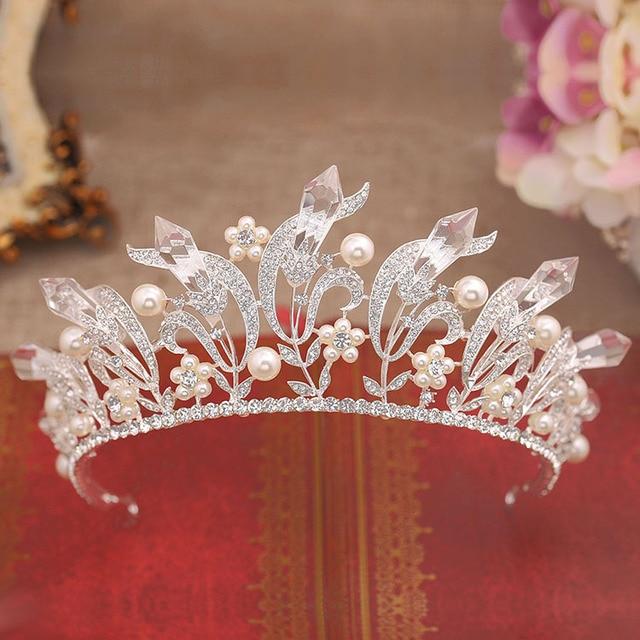 The bride crystal jewelry headdress ornaments European retro Baroque QUEEN CROWN