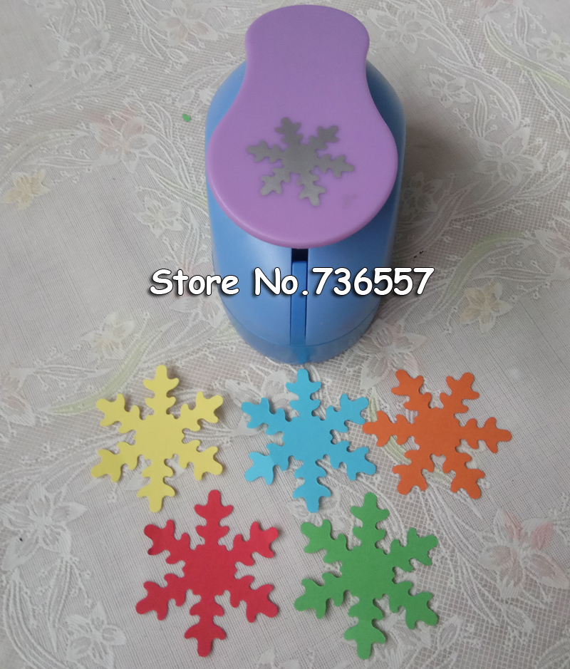 Free Shipping 2(5cm)Snowflake EVA foam punches paper puncher for greeting card handmade DIY scrapbooking hole punch machine 128pcs puncher heavy duty leather revolving hole punch hand pliers belt holes punches 2 2 5 3 3 5 4 4 5mm repair tool