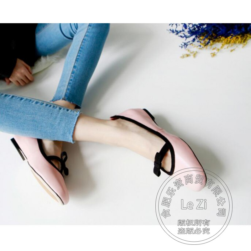 Nubuck Leather Butterfly Instep Runway Shoes Maternity Traditional Play Ballet Flats Mixed Colors font b Women