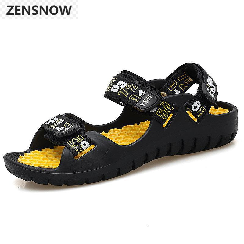 Brand men's casual sandals summer waterproof outdoor beach shoes stylish men's sandals comfortable breathable massage shoes