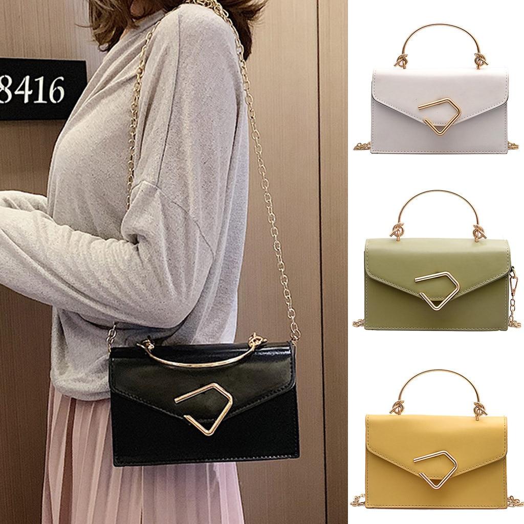 Flap Cover Lether Crossbody Bags Fashion Women's Solid Color Diagonal Shoulder Bag Small Summer Messenger Bag Bolsa Mujer