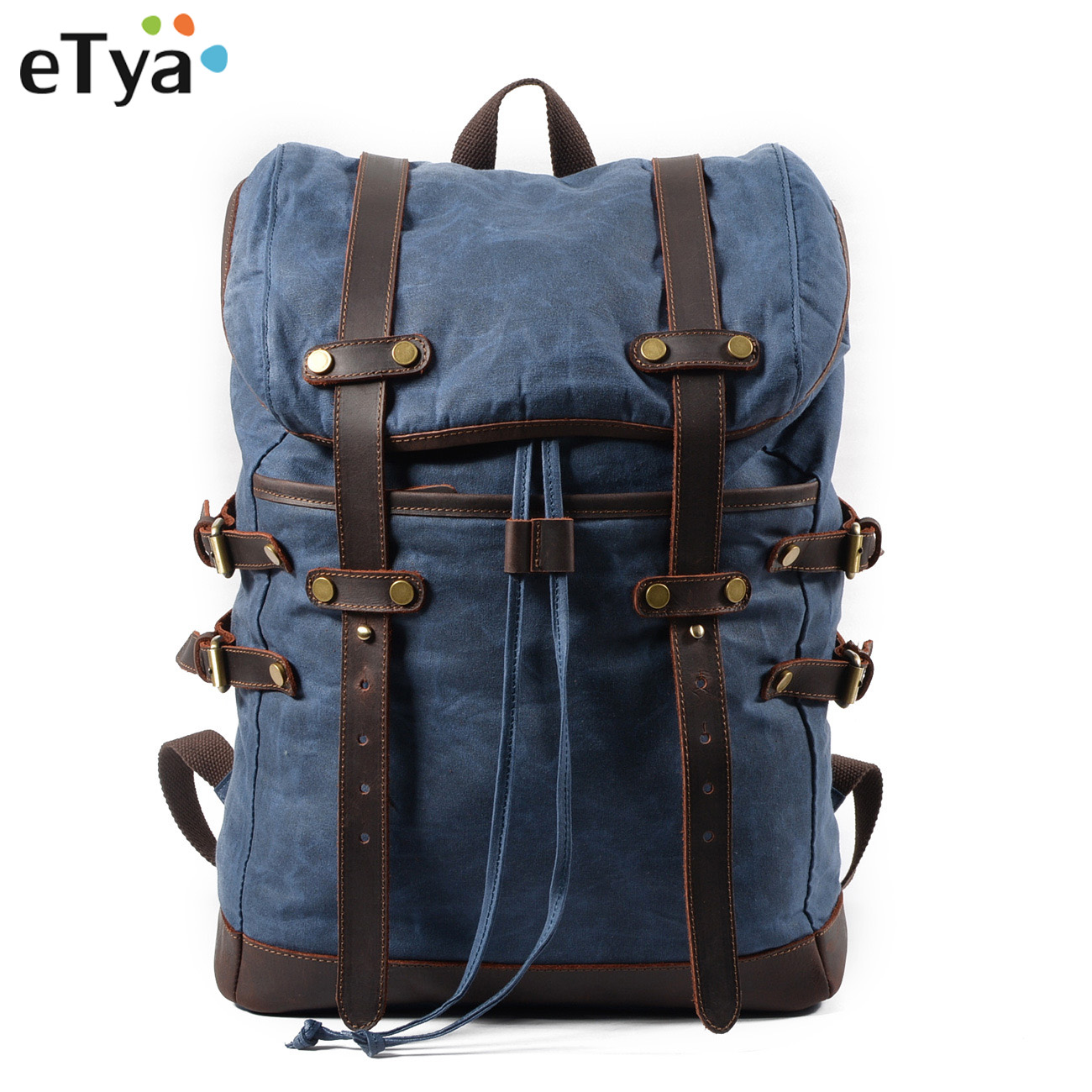 eTya Canvas Men's Luggage Bag Casual Backpack Male Waterproof Fashion Travel Bag Large Capacity Travel Organizer Storage Bag high quality travel 6 pieces set of luggage separate organizer large capacity storage bag cubic shoe bag travel bag