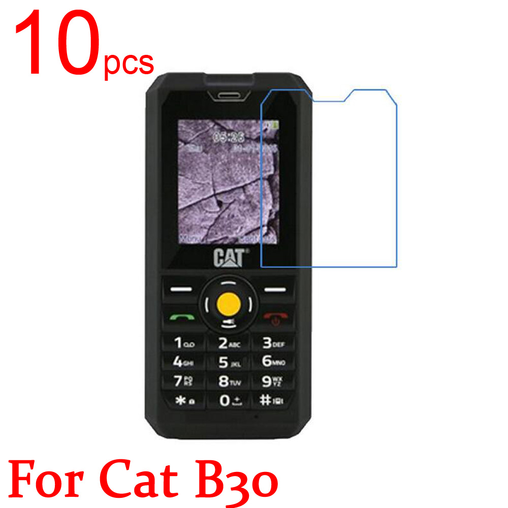 10pcs Glossy/Matte/Nano anti-Explosion LCD Screen Protector Film Cover For Cat B30 Protective Film + cloth