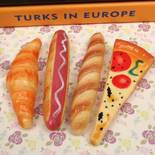 1PCS/lot New Arrival Pizza hot dog buns ballpoint pen ball fridge magnet ballpoint pen school office supplies(China)