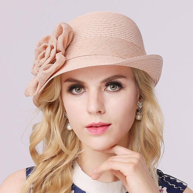 Lovely summer flowers small hat  Sun visor trend British Beach Hat