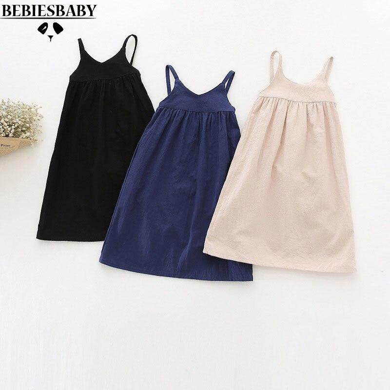 Retail Fashion Baby Girls Dresses long Japen Korean Style Infant Newborn Kids dresses Black 100 Cotton