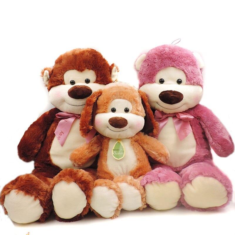 Large Teddy Bear Plush Toys High Quality Plush Pillow Stuffed Smile Face Animals Soft Kids Toys Children Baby Sleeping Dolls lacywear s 296 ari